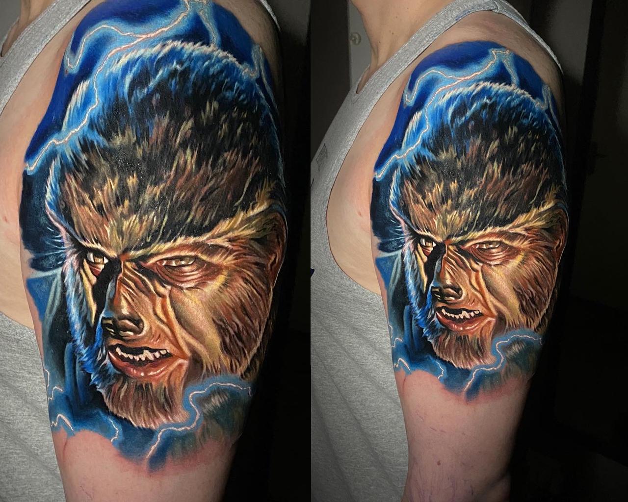 Portrait réaliste couleurs du personnage Wolfman